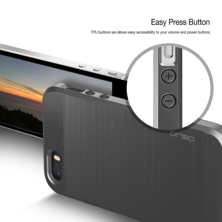 obliq slim meta iphone se case titanium silver