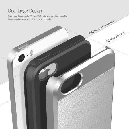 Obliq Slim Meta iPhone SE Case - Silver