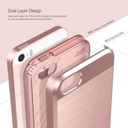 Obliq Slim Meta iPhone SE Case - Rose Gold
