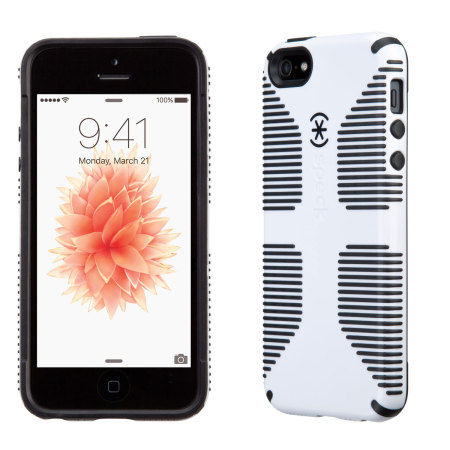 official photos 0ff7e 41cac Speck CandyShell Grip iPhone SE Case - White / Black