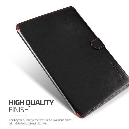 VRS Design Dandy Leather-Style iPad Pro 9.7 inch Case - Black