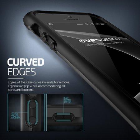 VRS Design Hard Drop iPhone SE Tough Case - Steel Silver