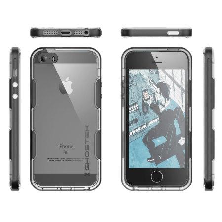 Ghostek Cloak iPhone SE Aluminium Tough Case - Clear / Space Grey