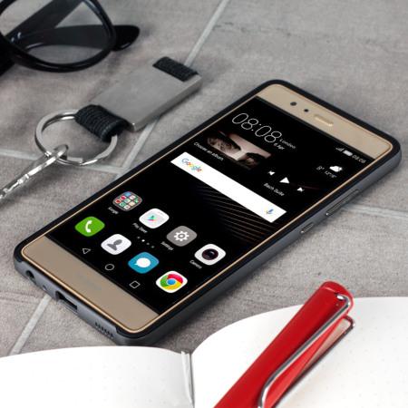 Bumper Frame Huawei P9 skal med Kolfiber - Grå