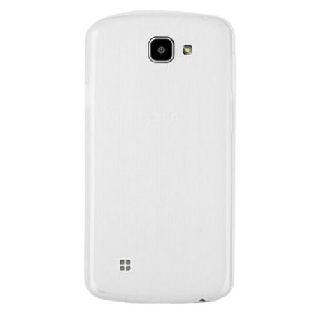Olixar FlexiShield LG K4 Gel Case - Frost White