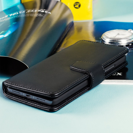 Olixar Premium Real Leather Huawei Honor 5X Wallet Case - Black