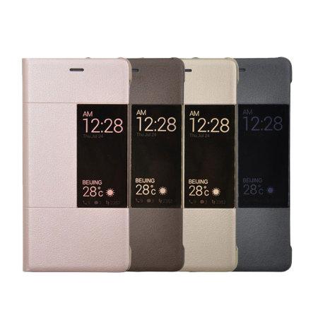 Housse Officielle Huawei P9 Smart View Flip - Gris Sombre