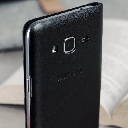 best service 1c4eb 6b101 Official Samsung Galaxy J3 2016 Flip Wallet Cover - Black