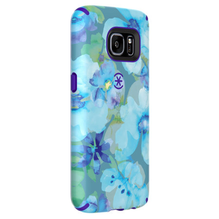 Speck CandyShell Inked Samsung Galaxy S7 Case - Aqua Floral