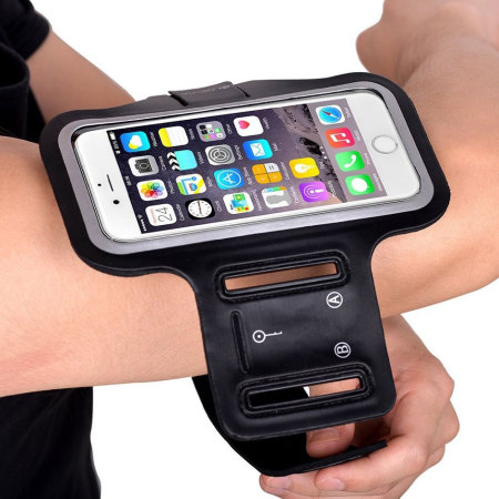 Universal Sport-fit Armband for Medium-Sized Smartphones - Black