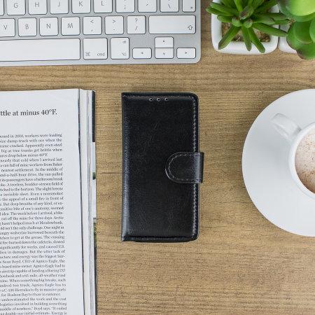 Encase Leather-Style iPhone 5S / 5 Wallet Case - Black