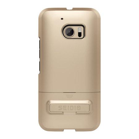 htc 10 case gold. seidio surface htc 10 case \u0026 metal kickstand - gold / black htc