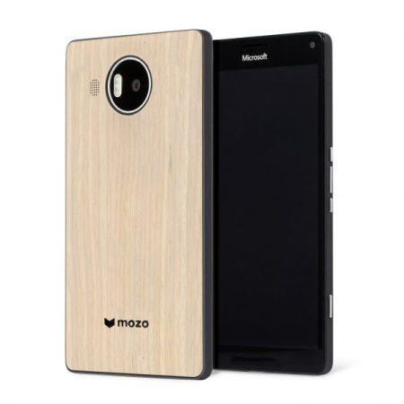 Mozo Microsoft Lumia 950 XL Wireless Charging Back Cover - Light Oak