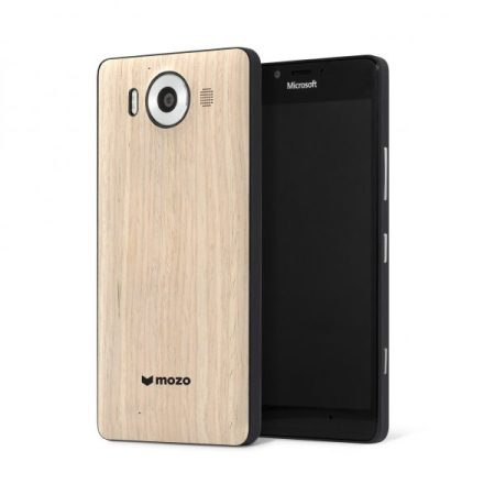 Mozo Microsoft Lumia 950 Wireless Charging Back Cover - Hout