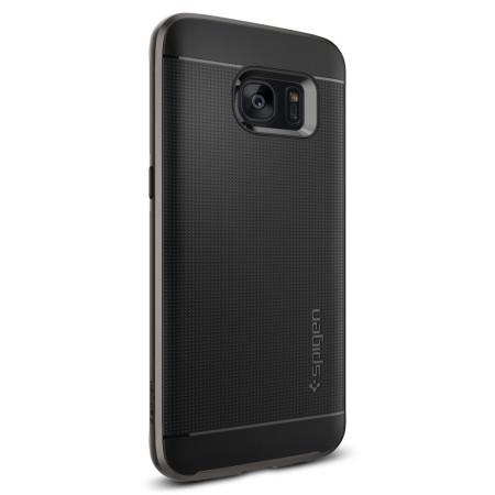 comes spigen neo hybrid samsung galaxy s7 case gunmetal grey iris scanner