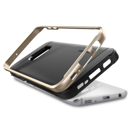 Spigen Neo Hybrid Samsung Galaxy S7 Edge Case - Champagne Gold