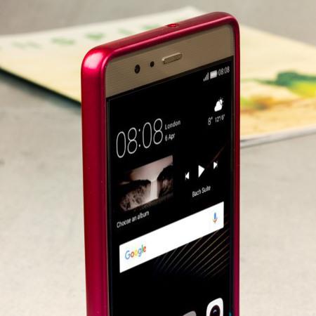 Mercury Goospery iJelly Huawei P9 Gel Case - Hot Pink