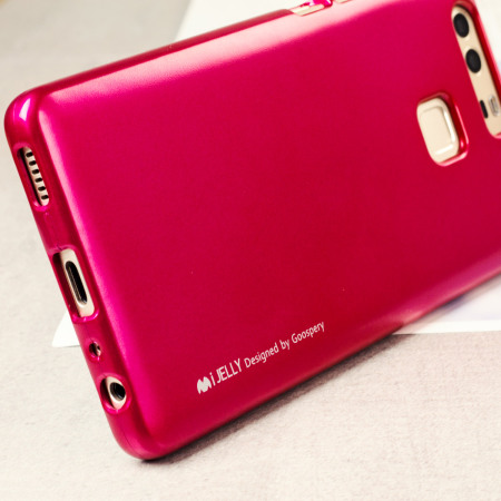 Mercury Goospery iJelly Huawei P9 Gel Case - Hot Pink