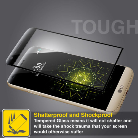 Olixar LG G5 Curved Glass Screen Protector - Black