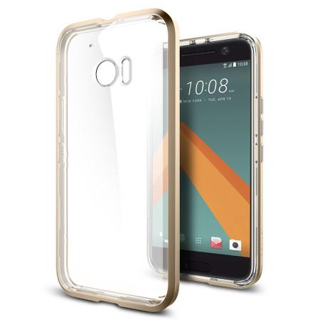 Coque HTC 10 Spigen Neo Hybrid Crystal – Champagne or / Transparent