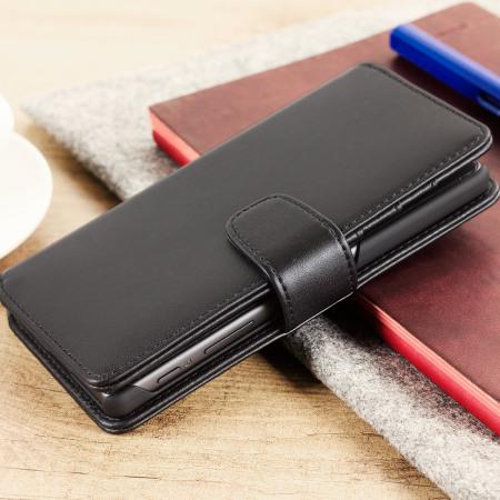 Olixar Genuine Leather Sony Xperia X Wallet Case - Black