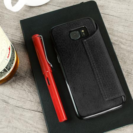 vaja agenda samsung galaxy s7 edge premium leather case black