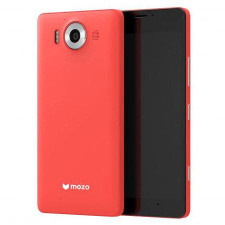 Mozo Microsoft Lumia 950 Wireless Charging Back Cover - Coral