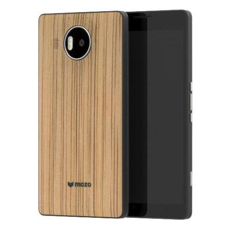 mozo microsoft lumia 950 wireless charging back cover zebra wood