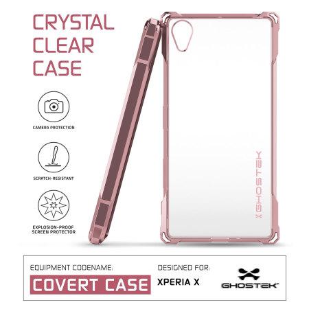 Ghostek Covert Sony Xperia X Bumper Case - Clear / Rose