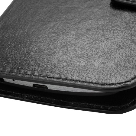 Olixar Leather-Style Vodafone Smart Prime 7 Wallet Case - Black