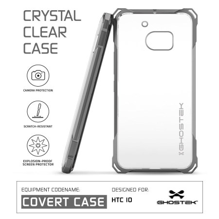 Ghostek Covert HTC 10 Bumper Case - Clear / Black