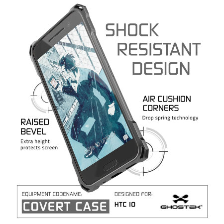 and ghostek covert htc 10 bumper case clear black 5 face the problem