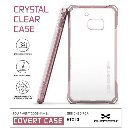 2011, ghostek covert htc 10 bumper case clear peach from