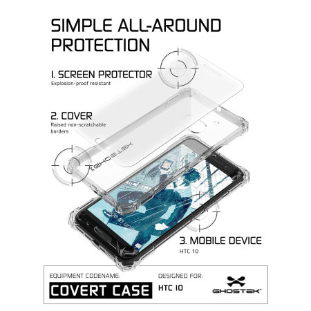 morespecificationsgeneralin the boxdevice,head ghostek covert htc 10 bumper case clear black hawkeye phone