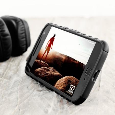 Olixar ArmourDillo Moto G4 Plus Protective Case - Black