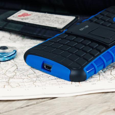 olixar armourdillo moto g4 plus protective case blue 9