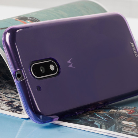 Olixar FlexiShield Moto G4 Gel Case - Purple