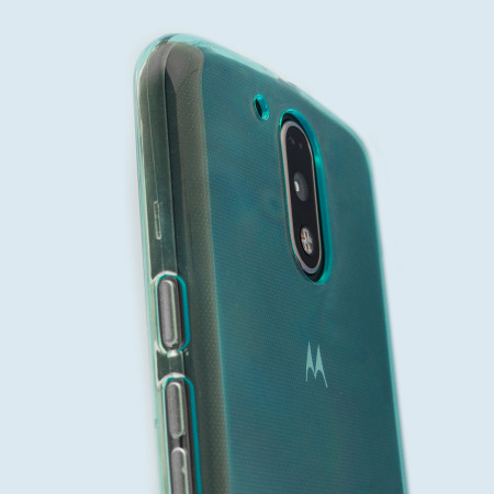 olixar flexishield moto g4 plus gel case blue