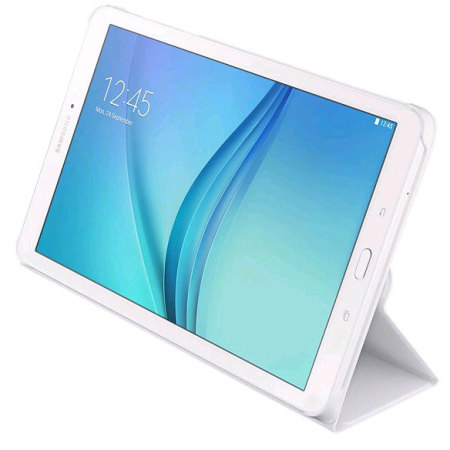 pretty nice 961ff 2dce4 Official Samsung Galaxy Tab E 9.6 Book Cover Case - White