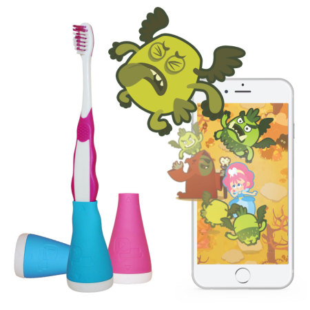 reports playbrush interactive bluetooth toothbrush game blue one two bars