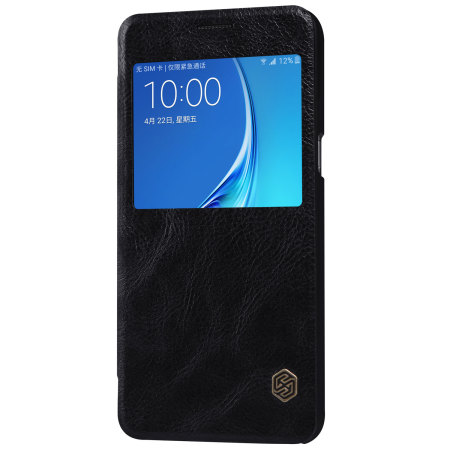 Nillkin Qin Real Leather Samsung Galaxy J7 2016 Window Case - Black
