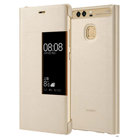 new concept 808e2 9524d Official Huawei P9 Plus Smart View Flip Case - Gold