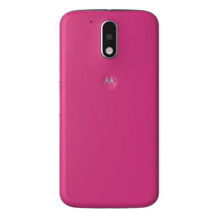 new product 1ace4 faa52 Official Moto G4 Plus Shell Replacement Back Cover - Raspberry