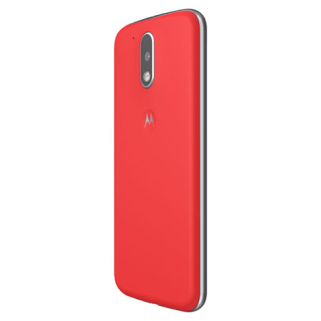 detailed look 8aba6 56578 Official Moto G4 Plus Shell Replacement Back Cover - Lava Red