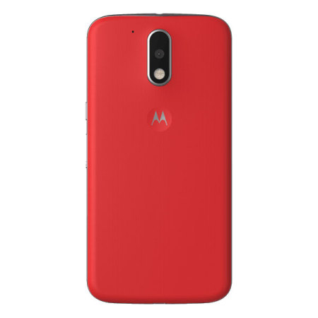 detailed look e799e 82448 Official Moto G4 Plus Shell Replacement Back Cover - Lava Red