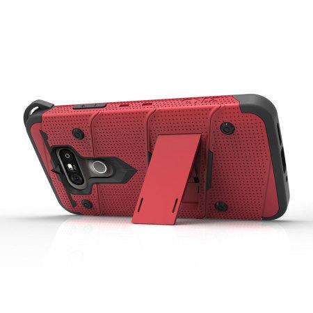 could not zizo bolt series lg g5 tough case belt clip red