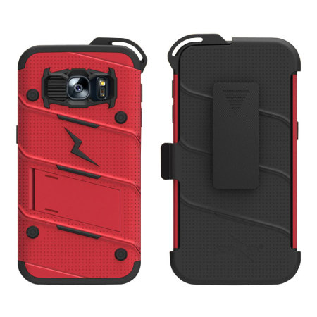 theyve done zizo bolt series samsung galaxy s8 tough case belt clip red most cases
