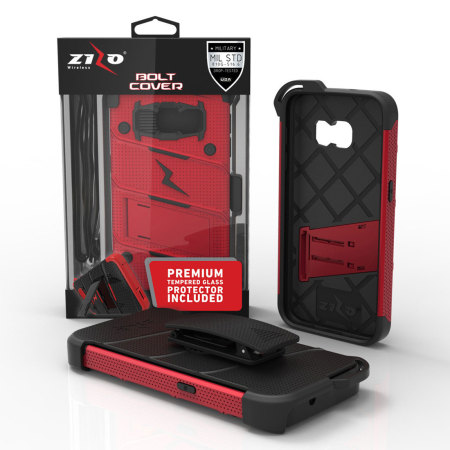 are only zizo bolt series samsung galaxy s8 tough case belt clip red