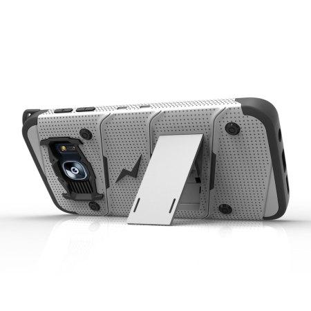 Zizo Bolt Series Samsung Galaxy S7 Edge Tough Case & Belt Clip - Steel
