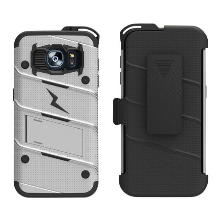 zizo bolt series samsung galaxy s7 edge tough case belt clip steel